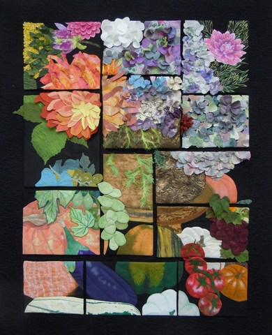 Fabric art on display at Canby Public Library