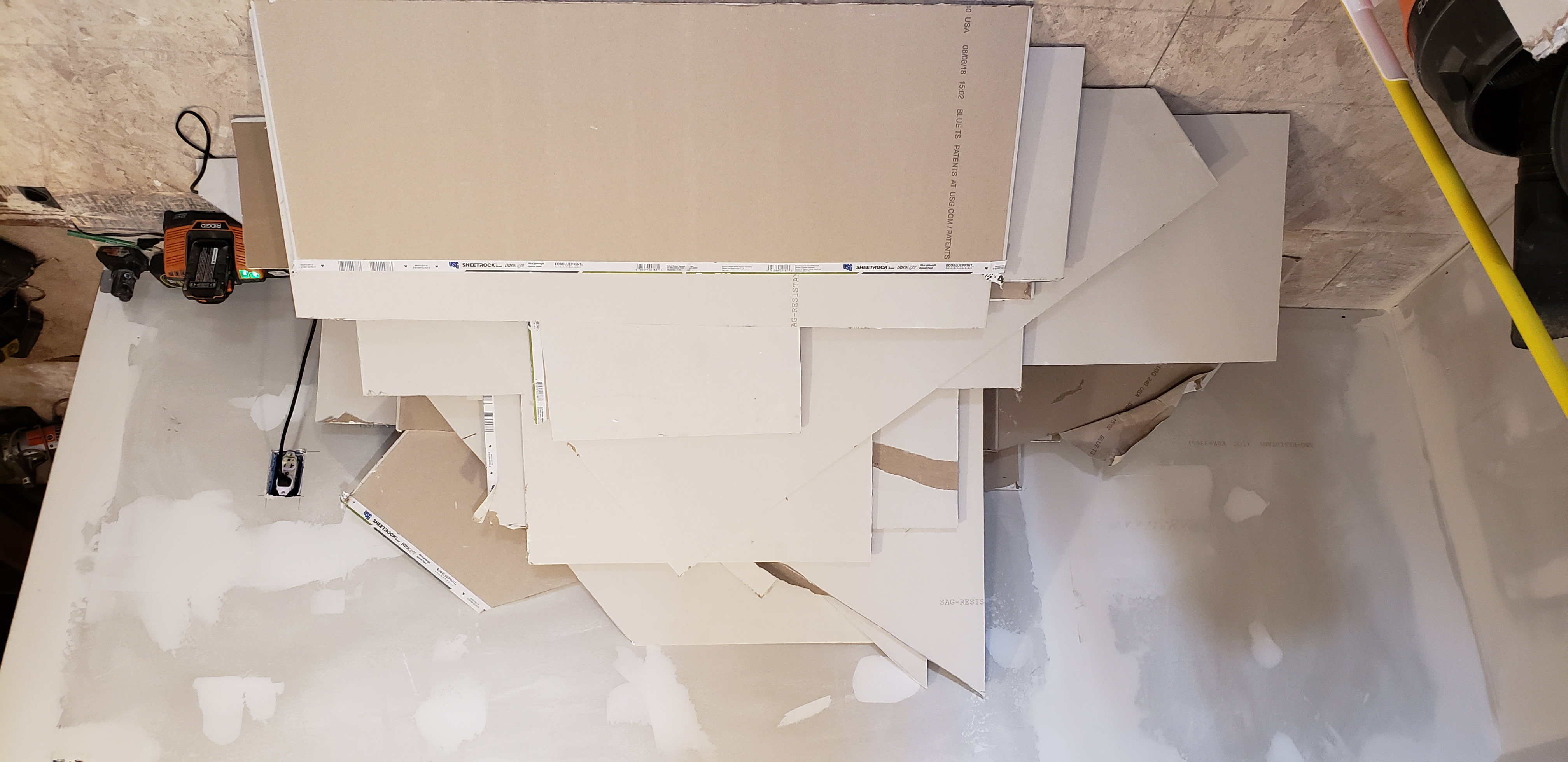 Free drywall cutoff pieces