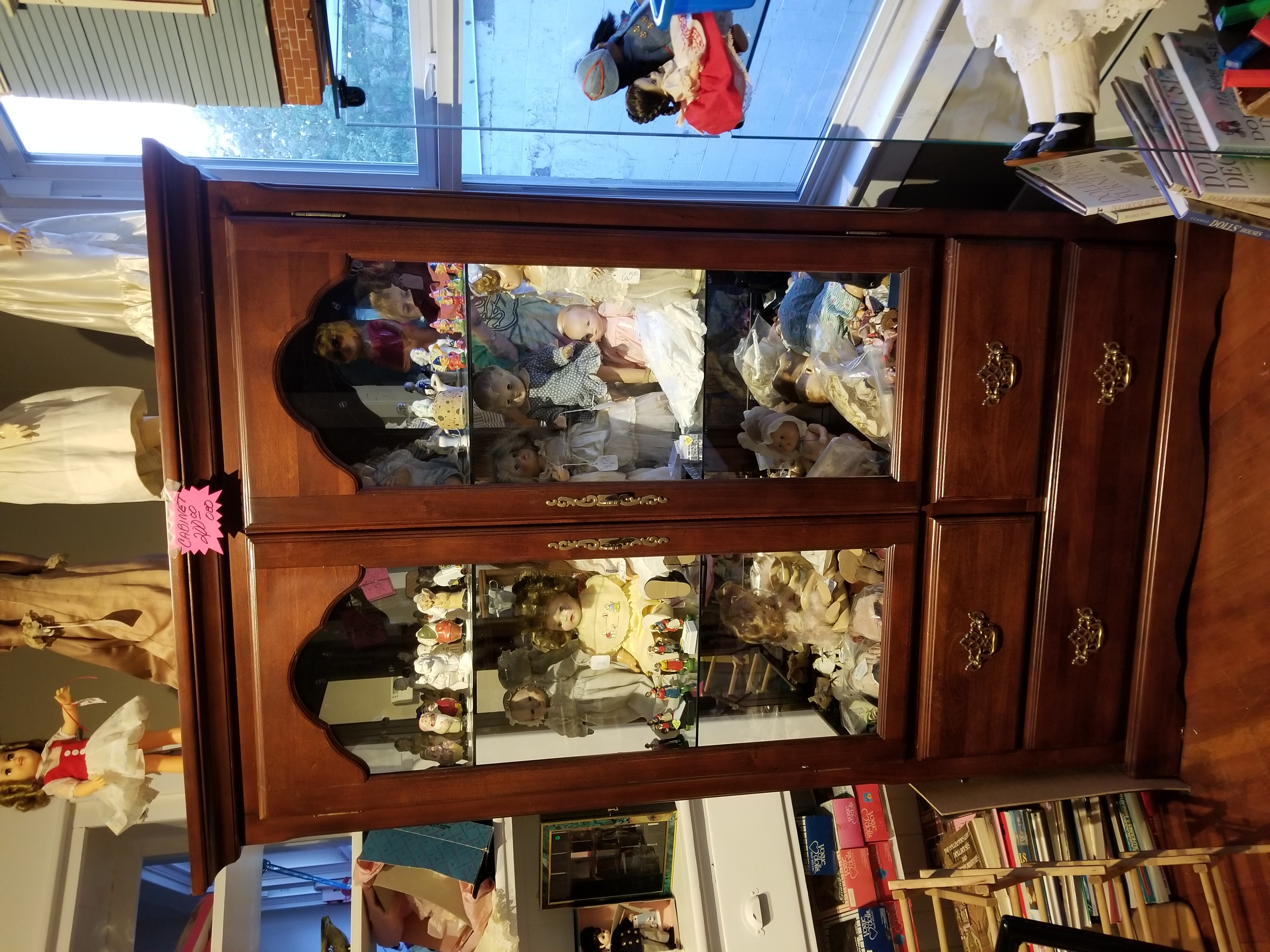 Beautiful china cabinet with lights