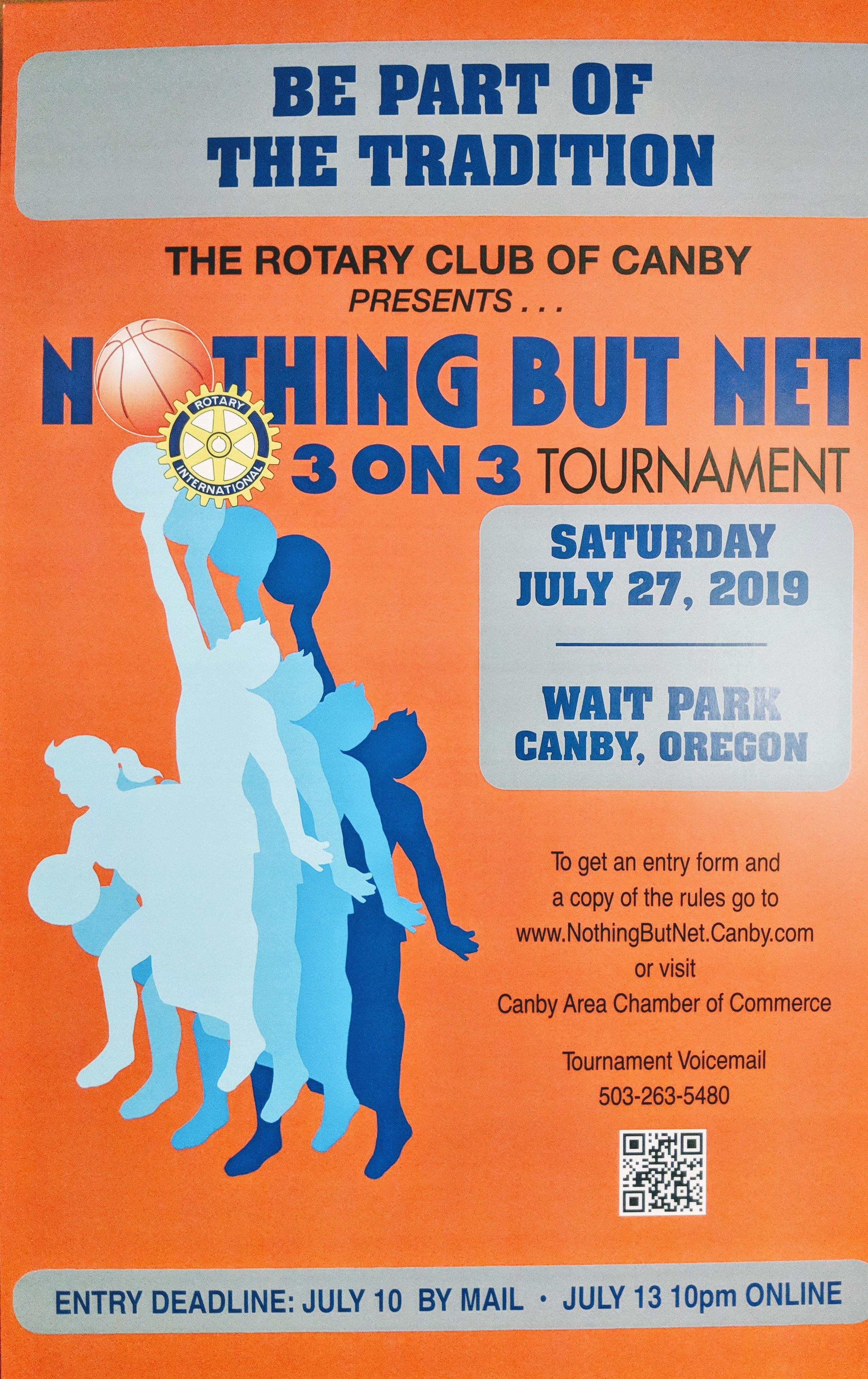 Canby Rotary 3-on-3 Basketball Tournament